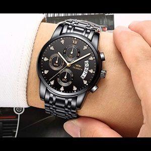 Other - Men's luxury waterproof quartz watch stainless New